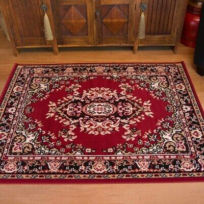 AU104.50 • Buy ALLY Red Rug Traditional Persian Floor Mat Carpet