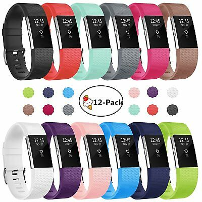 $ CDN7.04 • Buy FitBit Charge 2 Replacement Watch Strap Band Metal Buckle Wristband Silicone For