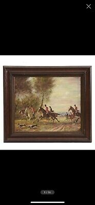 £165.22 • Buy L. Rigby Oil Painting On Canvas Of Hunting Scene