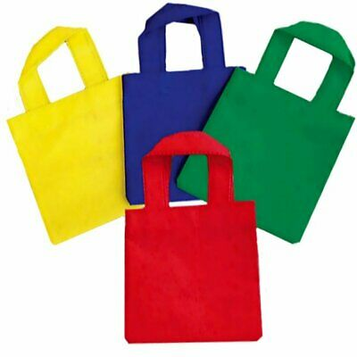 £2.89 • Buy Pack Of 4 X  Woven Fabric Party Tote Bags- Parties, Weddings, Christmas,Easter