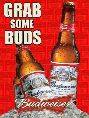 $ CDN37.92 • Buy Grab Some Buds Budweiser Metal Sign