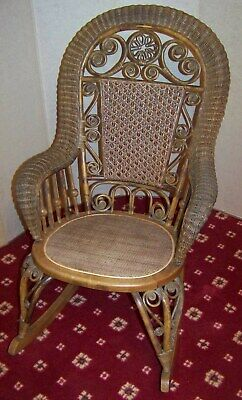 Antique Wicker Rocking Chair Compare Prices On Dealsan Com