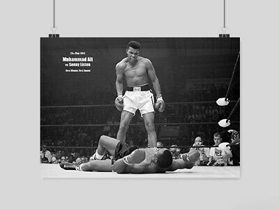 £10.95 • Buy Muhammed Ali Sonny Liston A3 Poster Boxing Art Wall Picture Print