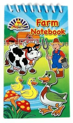 Farm Animals Mini Spiral Notebooks - Childrens Party Loot Bag Filler • 1.79£
