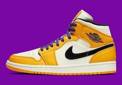 d78cd30ec68baa New Men s Air Jordan 1 Mid Retro Shoes (852542-700) University Gold