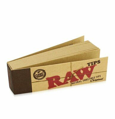 £2.99 • Buy 500 Raw Rolling Papers Filter Tips (10 Booklets Of 50) Standard Size Vegan Rizla