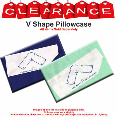 £2.99 • Buy V Shaped Poly Cotton Pillow Case Orthopedic Pregnancy Back & Neck Support Cover