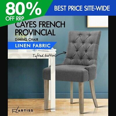 AU144.95 • Buy Artiss French Provincial Dining Chair - Grey