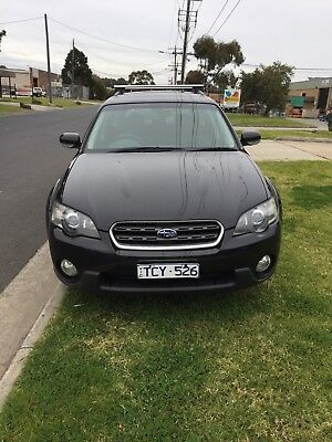 AU5750 • Buy 2004 SUBARU OUTBACK AWD BLACK WAGON GOOD-VG COND  RWC/ REGO (Vic),(TCY526),