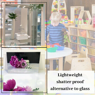 Mirror Perspex Sheet Plastic Acrylic Child Safety Bedroom Bathroom Tile Wall 3mm • 1.99£