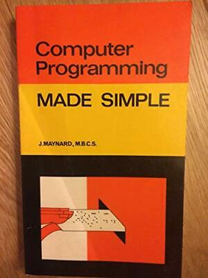 £3.59 • Buy Computer Programming (Made Simple Books) By Maynard, Jeff Paperback Book The