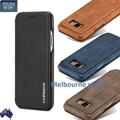 AU11.40 • Buy For Samsung Galaxy S10+ S8 NOTE8 S10e Case Leather Card Holder Flip Stand Cover