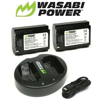 $ CDN122.35 • Buy Wasabi Power Battery X2 And Dual USB Charger For Sony NP-FZ100,a9,a7R III,a7 III