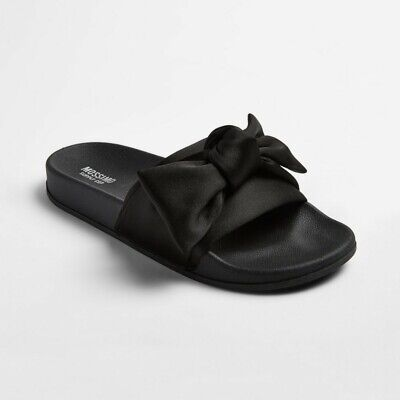 982375112f6a Women s Julisa Slide Sandals With A Bow - Mossimo Supply Co.- Black • 17.24