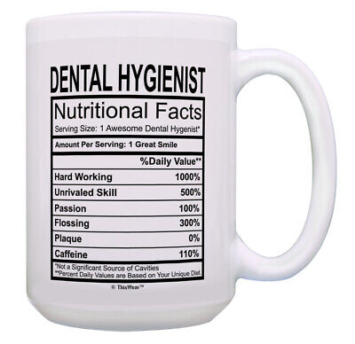 Dental Hygienist Gifts Dental Hygienist Nutritional 15oz Coffee Mug • 13.79£