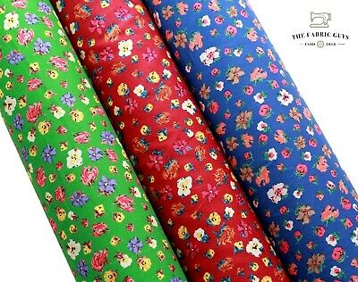 £9.99 • Buy 100% Cotton Lawn, William Morris Small Flowers Leaves Petals, High Quality 58