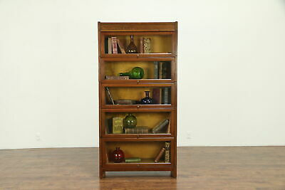 $1250 • Buy Mission Oak Arts & Crafts Craftsman Antique 5 Stack Lawyer Bookcase #30662