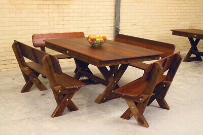 AU2050 • Buy OUTDOOR FURNITURE New Timber Outdoor Setting Seats 10 (orders Only)