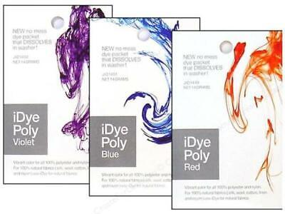 Jacquard IDye Poly - 16 Colours Available - For Polyester And Nylon Fabrics • 4.40£