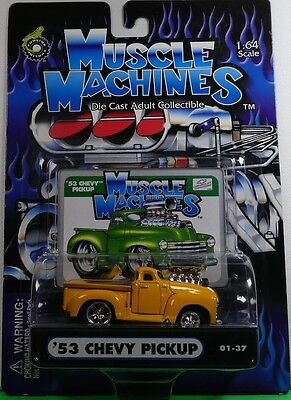 AU29.95 • Buy Muscle Machines 53 Chevy Pickup Yellow 01-37