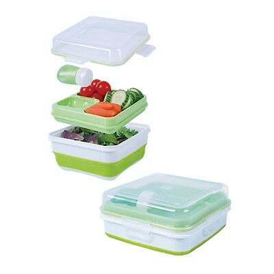 AU17 • Buy Cool Gear  Collapsible Bento Set . Lunch Box Salad To Go Green