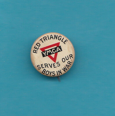 AU27.50 • Buy Red Triangle YMCA Serves Our Boys In War Scarce 3/4 Inch Across