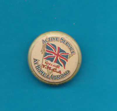 AU24.50 • Buy YMCA On Active Service Badge Nice Condition 7/8 Inch Across