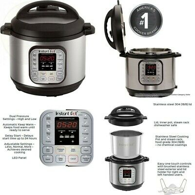 $82 • Buy Instant Pot Duo 80 - 7-in-1 (8 Quart) Electric Pressure Cooker