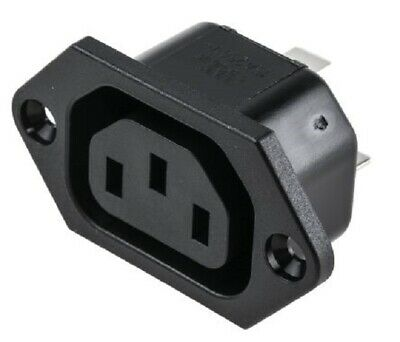 C13 IEC Chassis Outlet Socket Chassis  - 6600.3300 - OUTLET, IEC, GST • 2.30£