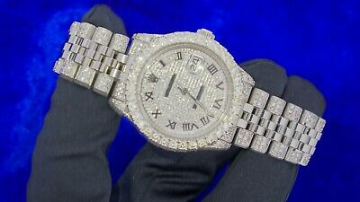 $ CDN16303.20 • Buy Rolex Datejust Mens Steel 36mm Watch 11 Carat Diamonds Iced Out Watch Best Deal