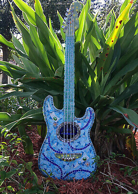 $1295.29 • Buy Unique Mixed Media Art  Hand Crafted Guitar