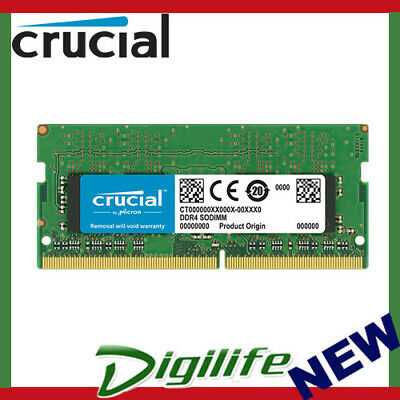 AU73.90 • Buy Crucial 1 X 8GB DDR4 2400MHz SODIMM RAM CL17 Laptop Notebook Memory PC4-19200