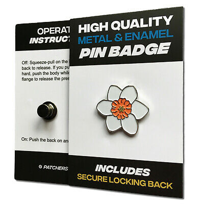 £3.75 • Buy White Daffodil High Quality Metal & Enamel Pin Badge With Secure Locking Back