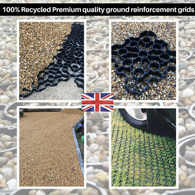 Ground Reinforcement Grid Driveway Recycled Eco Grass Gravel Car Park 25 SQM UK • 305£