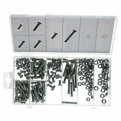 Nuts And Bolts Washers Phillips Dome Head Bolt-Screw Metric M5 - M6 220pc Kit • 8.75£