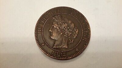 £20 • Buy 1883 France 10 Centimes Extra Fine Coin
