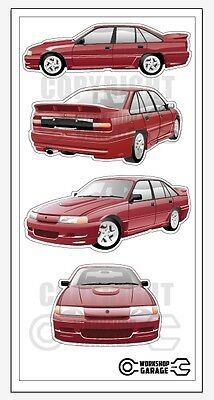 AU4.80 • Buy New! Collectable VN SS Group A Holden Commodore  Medium Sticker Set