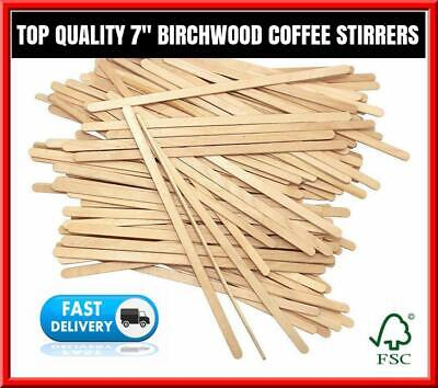 £5.89 • Buy Wooden Coffee Stirrers For Paper Coffee Cups, Cup Sticks 7  (178mm)