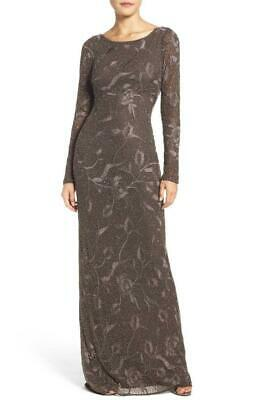$79.99 • Buy Aidan Mattox Embroidered Beaded Long Sleeve Gown 4 ($495)