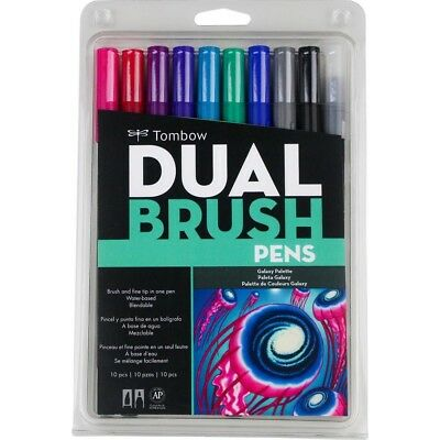 AU33.38 • Buy Tombow Dual Brush Markers 10/Pkg - Galaxy