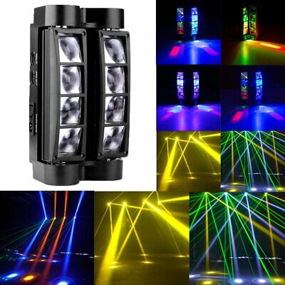 RGBW 80W 8 LED Spider Beam Moving Head Stage Lights Bar Disco Show DJ Lighting • 49.52$