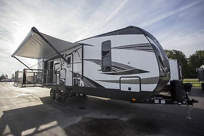 Heartland Torque T32 Travel Trailer Toy Hauler Side Patio RV 12 Foot Garage u2022 29925.00$ & Used Toy Hauler Trailers | Compare Prices on dealsan.com