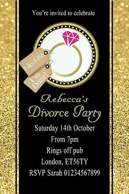 Personalised Divorce Invitations Party Invites & Envelopes X12 • 3.95£