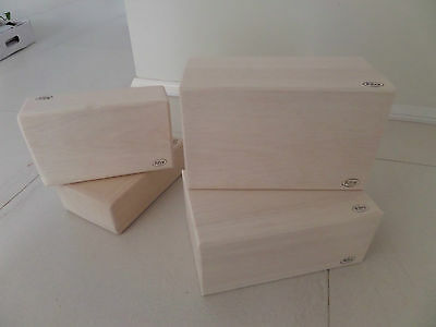 AU16 • Buy Yoga And Pilates Solid Balsa Yoga Block DIFFERENT SIZES/GRADES RRP $37