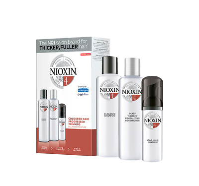 AU32.95 • Buy Nioxin System 4 Starter Kit Fine Coloured Hair  150+150+40ml Use By 9/21
