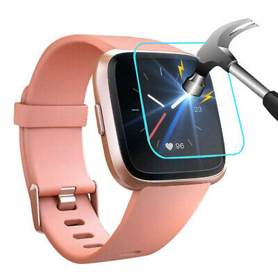 $ CDN2.24 • Buy 5 PACK Tempered Glass Screen Film Protector For Fitbit Versa Lite Smart Watch
