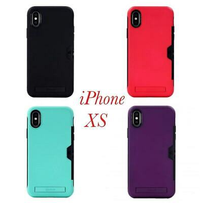AU12.95 • Buy ROAR Hybrid Case Cover With Card Holder And Stand For IPhone X / Xs 5.8'' +TP