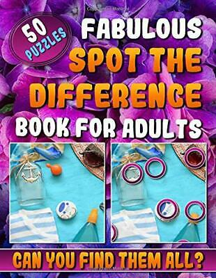 £12.22 • Buy Fabulous Spot The Difference Book For Adults: Picture By Carita Malecot New Book