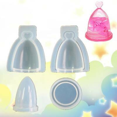 $5.61 • Buy 4Pcs/Set Silicone Mold Glass Cover Hollow Bottle Epoxy Resin DIY Jewelry Making