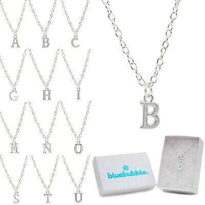 £4.95 • Buy Bluebubble ALPHABET A-Z Initial Charm Necklace Gift Box Cute Personalised Name